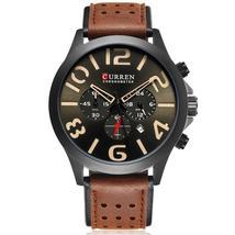 Curren Mens Watches Top Brand Luxury Men Military Sport Wristwatches Chronograph - $46.33