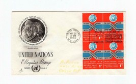 FDC ENVELOPE-UNITED NATIONS 1c REGULAR POSTAGE -4BL 1962 ARTCRAFT CACHET... - $0.98