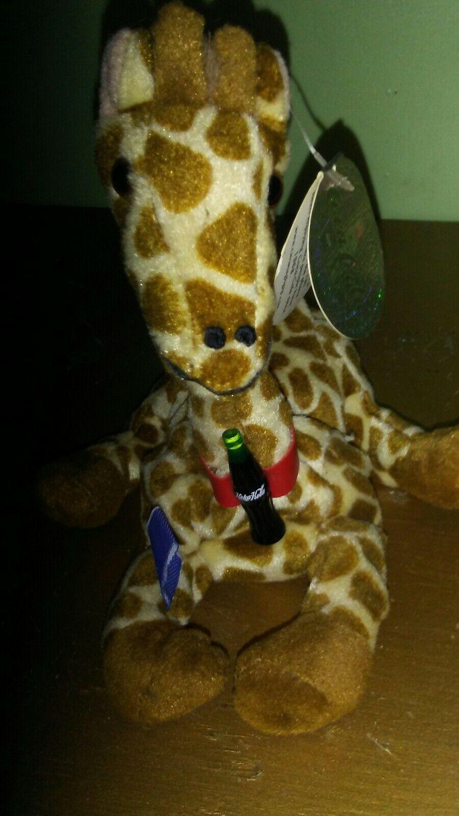 RIFRAFF Giraffe Somalia International Coca Cola Collection Beanbag Plush 1999 - $9.99