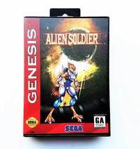Alien Soldier - Game w/ Case English Version Sega Genesis Custom (USA Se... - $31.57