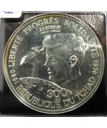 1970 Chad 300Fr JF Kennedy Silver Coin ICG PR61 GREEN Holder AC568 - $562.19