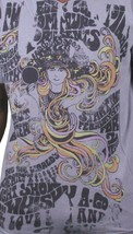 Mens Gray Acid Psychedelic Love Peace Hippie Concert Poster SF 67 V-Neck T-Shirt image 2