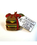 Vintage 1988 McDonald's McMerry Christmas CA Pin Featuring a Big Mac & G... - $9.75