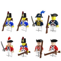 8pcs Medieval Imperial Royal Guards With Gun Military Fit Lego Minifigur... - $13.99