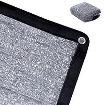 Rovey 70% 6.5ft x 12ft Knitted Aluminet Shade Cloth Panels Sun Block Reflective
