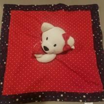Gymboree Baby Lovie Red Navy Blue Bear 2016 NWT Security Blanket Mini - $49.49