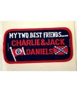 VTG My Two Best Friends Charlie & Jack Daniels Tennessee Flags Embroider... - $19.31