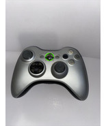 XBOX 360 Special Edition Silver Black Wireless Controller OEM TESTED - $25.19
