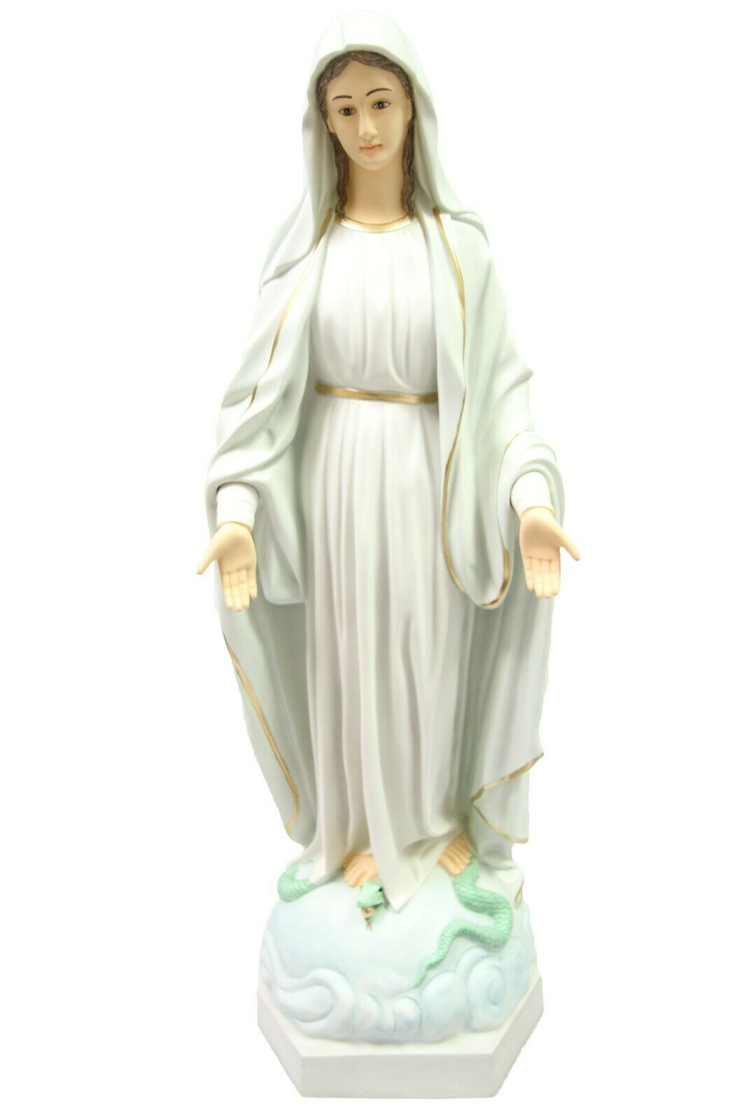 "Primary image for 39"" Our Lady of Grace Virgin Mary Mother Catholic Statue Vittoria Made in Italy"