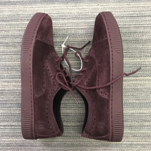 Born Womens Shoes Cymbal Suede Cap Toe Sneaker bURGUNDY Lace Up SizE 8M