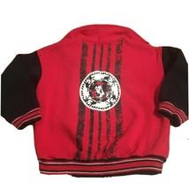 Disney 101 Dalmatians Vintage Half Zip Sweatshirt Red Black 4 T - $12.61