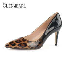 White Party Women Heels Shoes Pumps Wom Shoes Stiletto Brand Leopard Woman High pqfR6Z