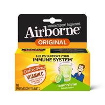 Airborne Vitamin C 1000mg Immune Support Effervescent Formula Lemon Lime 10 CT.. - $15.83
