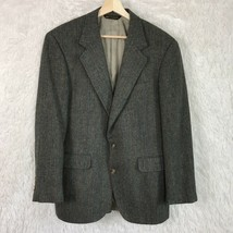 Corbin Wool Tweed 2 Button Sport Coat Jacket Brown Herringbone Vent Mens... - $69.29