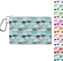 Sweet Dreams Geometric Clouds Canvas Zip Pouch - $15.99+