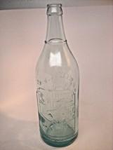 Vintage G.B. Seely's 28 Oz Bottle West 15th St, New York Aqua Embossed B... - $24.75