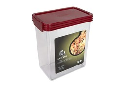 Click Clack Basics Storage Containers, 2.5 Quart Airtight Container, Red... - €14,18 EUR