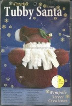 CRAFTS Christmas Tubby Santa Winterfolk Wimpole Street Creations Kit NOS... - $17.77