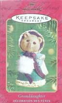 "Hallmark ""Granddaughter"" Keepsake Ornament issued 2001 - $6.93"
