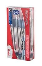 Pentel R.S.V.P. Ball Point Pen, Medium Line, Blue Ink, 12 Pack BK91PC12C - $12.18