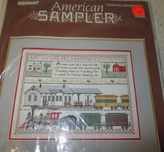 Bernat American Sampler Counted Cross Stitch Train - $7.00