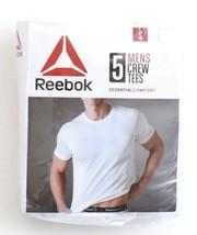 Reebok Crossfit White Crew Neck Tee Shirt 5 in Package New in Package Me... - $37.49