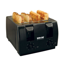Better Chef 4 Slice Dual-Control Black Toaster - €42,62 EUR