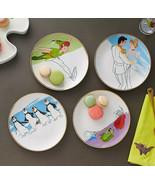 NIB Disney Store Ink & Paint Ceramic Salad Plate Set Of 4 - $39.59