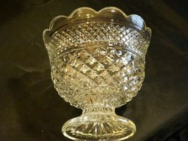 Etched Glass pedestal Wexford CenterPiece Anchor Hocking AA19-LD11938 Vintage image 4