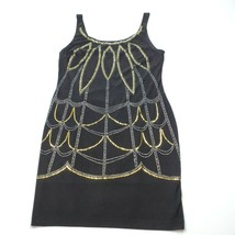 Bisou Bisou Sleeveless Sequin Black Dress Lined Womens Size 12 - $9.36