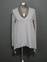 Express Charcoal Gray Sweater Tunic Top with Jewelry Size Small Shark Bi... - $15.44