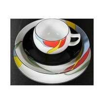 4 Pc MIKASA BEL AIRE LAL04 SALAD PLATE BOWL SAUCER CUP Place Setting bla... - $57.49