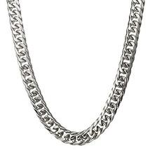 Loveshine Customized Handmade Mens Stainless Steel 16MM Silver Cuban Lin... - $17.43