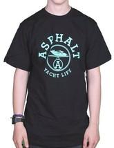 Asphalt Yacht Club Nero da Uomo Menta Paris Life T-Shirt AYC1520894 Nwt