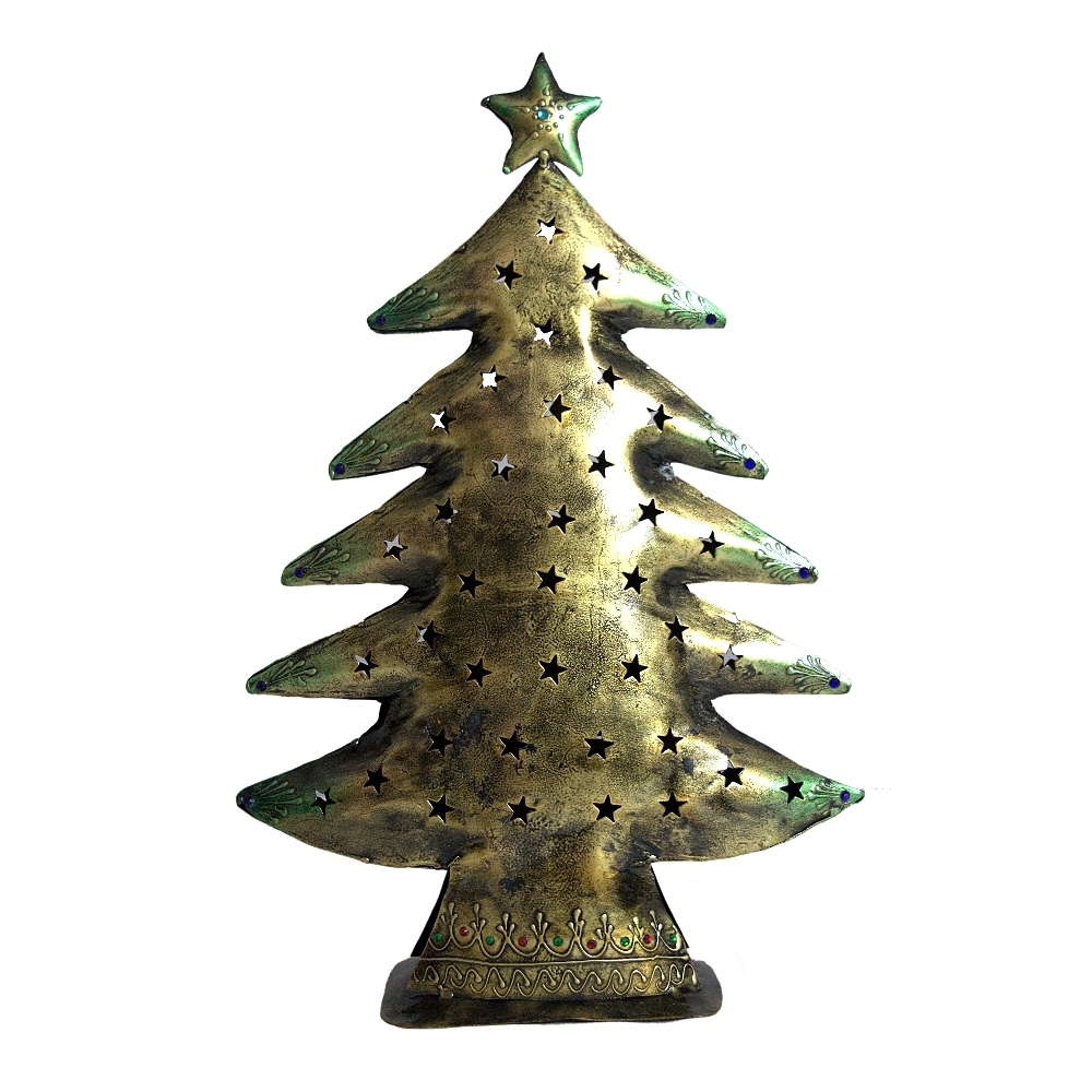 Primary image for Iron Christmas Tree Christmas Gift Desktop Decoration, Antique Finish