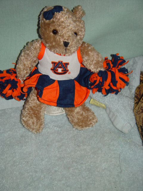 Primary image for Champion Treasures Squeeze Me Cheerleader Bears Go Tigers