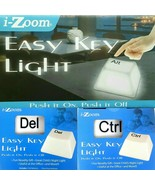 Jumbo Computer IT Key Night Light Push On/Off White CTRL ALT DELETE Moun... - $14.99