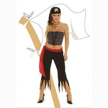 Elegant Moments Pirate Halloween Costume with Pirates Hat Size M/L 10-14... - $21.73
