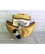 Unipak Noah's Noah Ark House Boat Plush Toy With 6 Small Stuffed Zoo Ani... - $35.63