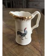 "Vtg Delaware Blue Hen Chicken Creamer Ceramic 4"" Made in USA - $11.30"