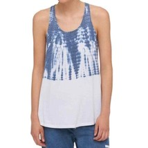 Tommy Hilfiger Blue Womens Size S Tie Dyed Colorblock Tank Top 4103-3 - $23.14