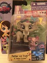 Littlest Pet Shop Fletcher von Trunk elephant  & Teensie Fromage Free Shipping - $25.99