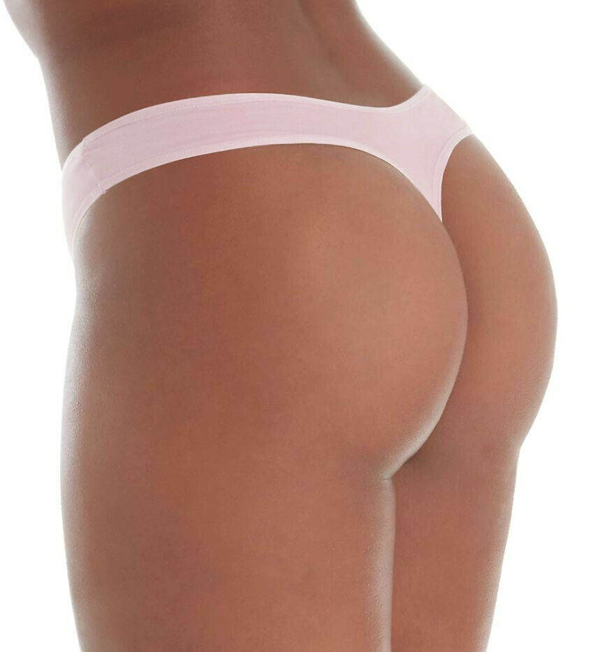 Calvin Klein Women's Form Stretch Plus Size 1X Connected Pink Thong Panties NWT