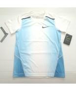 Nike Boys Breathe Instacool Shirt - 893577 - Blue White 482 - Size L - NWT - $14.99