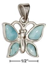 Sterling Silver Larimar Butterfly Pendant - $71.99+