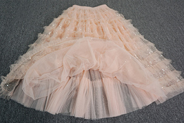 Blush Midi Tulle Skirt Outfit Puffy Tiered Tulle Skirt Blush Pink Holiday Skirt image 6