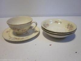 Vintage Set Of 5 Pieces Of Homer Laughlin Georgian Eggshell Tea Up Saucer Bowls - $9.99