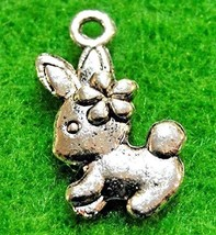 20Pcs. Tibetan Silver Easter Bunny Rabbit Charms Pendants Earring Drops ... - $19.94