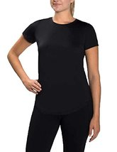 Kirkland Signature Women's Ladies' Striped Active Yoga Tee (Black, X-Large) - $13.99