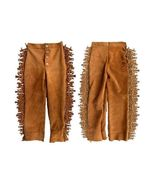Men's New Native American Brown Buckskin Suede Leather Fringes Hippy Pan... - $89.10+